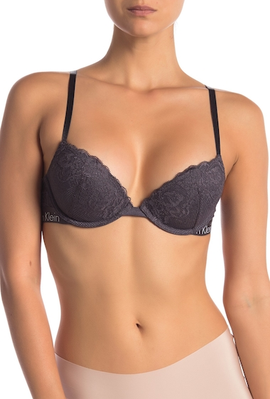 Imbracaminte Femei Calvin Klein Lace Push-Up Bra NINE IRON