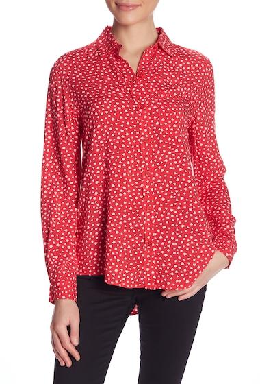 Imbracaminte Femei BeachLunchLounge Alana Printed Button Front Shirt AL4115-8 LES COEURS ROUGE