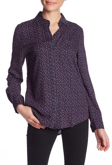 Imbracaminte Femei BeachLunchLounge Alana Printed Button Front Shirt AL3844-4 MINI HEARTS