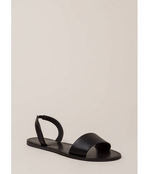 Incaltaminte Femei CheapChic You're Good To Go Slingback Sandals Black