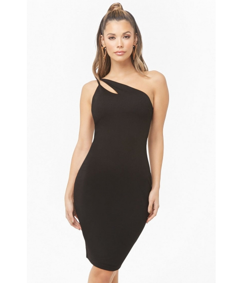 Imbracaminte Femei Forever21 One-Shoulder Cutout Bodycon Dress BLACK