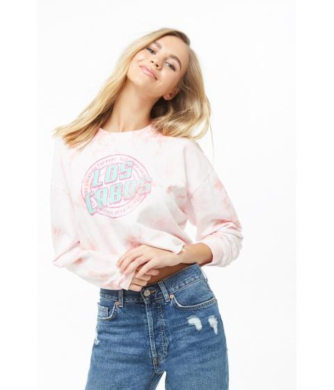 Imbracaminte Femei Forever21 Los Cabos Cropped Sweatshirt LIGHT PINKMULTI