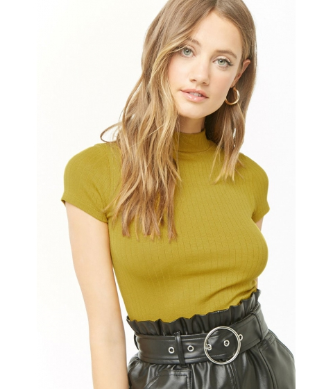Imbracaminte Femei Forever21 Ribbed Mock Neck Top CITRON