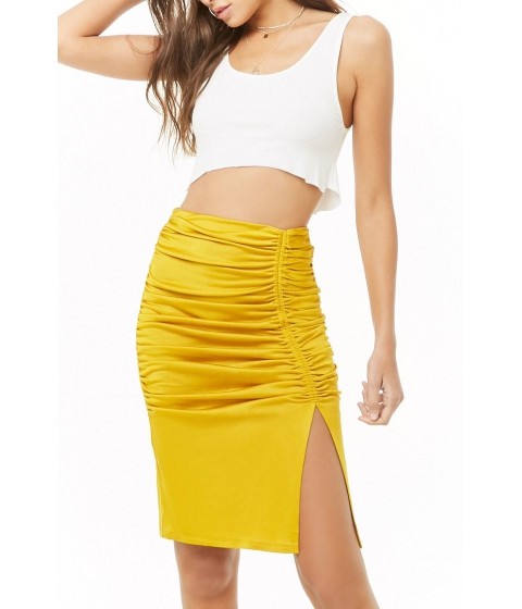 Imbracaminte Femei Forever21 Ruched Mini Skirt CITRON