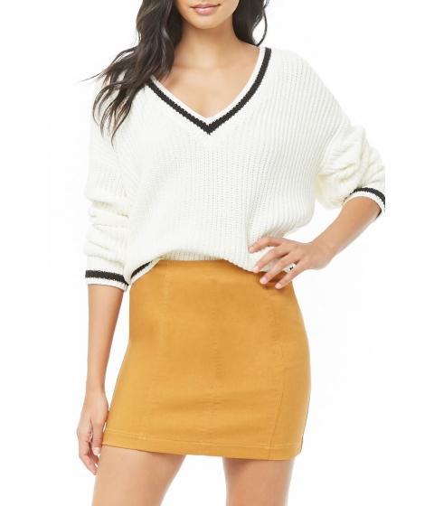 Imbracaminte Femei Forever21 Paneled Denim Mini Skirt MUSTARD