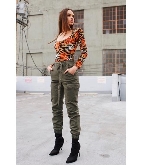 Imbracaminte Femei CheapChic Lost In Paradise Zebra Bodysuit Orange Print