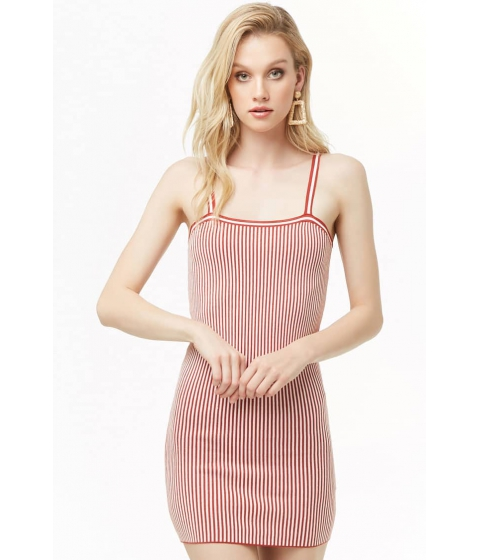 Imbracaminte Femei Forever21 Striped Mini Dress RUSTCREAM
