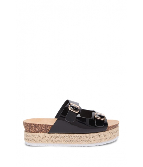 Incaltaminte Femei Forever21 Faux Patent Leather Wedges BLACK