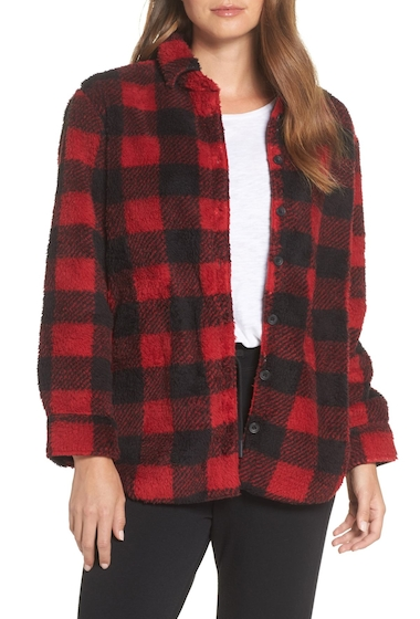 Imbracaminte Femei PJ SALVAGE Cozy Faux Fur Button Front Shirt RED