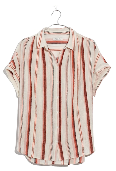 Imbracaminte Femei Madewell Central Stripe Shirt RUSTED CLAY