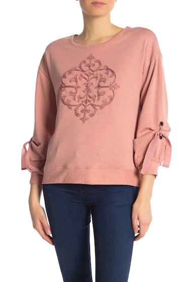 Imbracaminte Femei Democracy Drawstring Sleeve Embroidered Sweater MASU MAPLE
