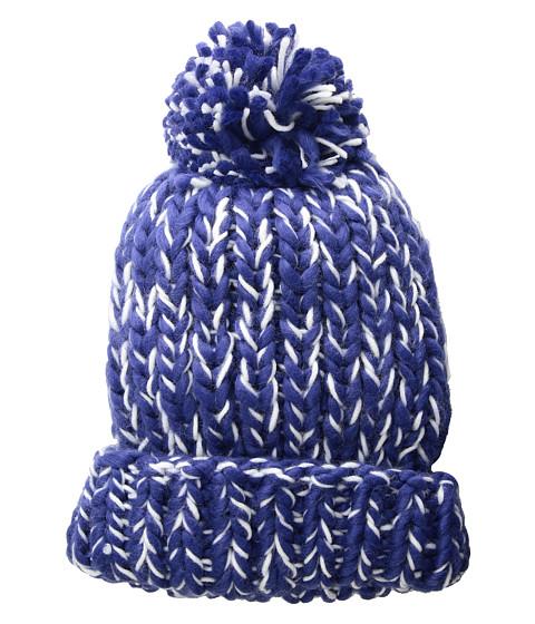Accesorii Femei San Diego Hat Company KNH3590 Chunky Marled Knit Beanie with Pom Blue