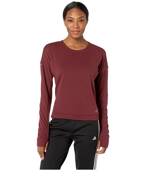 Imbracaminte Femei adidas Supernova Soft Sweatshirt Noble MaroonColored Heather