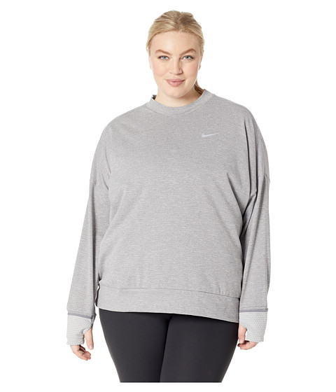 Imbracaminte Femei Nike Thermasphere Element Top (Sizes 1X-3X) GunsmokeHeather