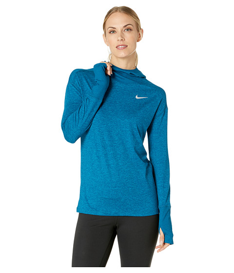 Imbracaminte Femei Nike Element Hoodie Blue ForceGreen AbyssHeather