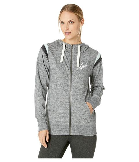 Imbracaminte Femei Nike Gym Vintage Hoodie Full Zip HBR Carbon HeatherSail