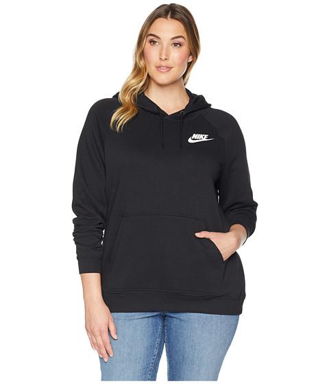 Imbracaminte Femei Nike Plus Size Rally Extended Hoodie BlackBlackWhite