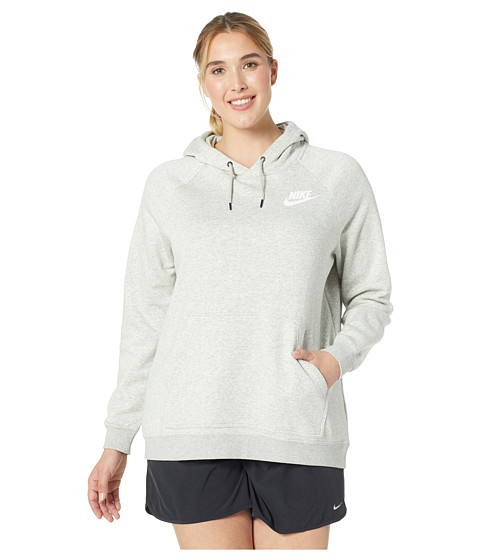 Imbracaminte Femei Nike Plus Size Rally Extended Hoodie Grey HeatherPale GreyWhite