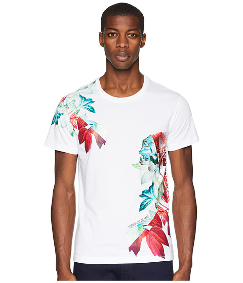 Imbracaminte Barbati Versace Exploded Floral Graphic T-Shirt White