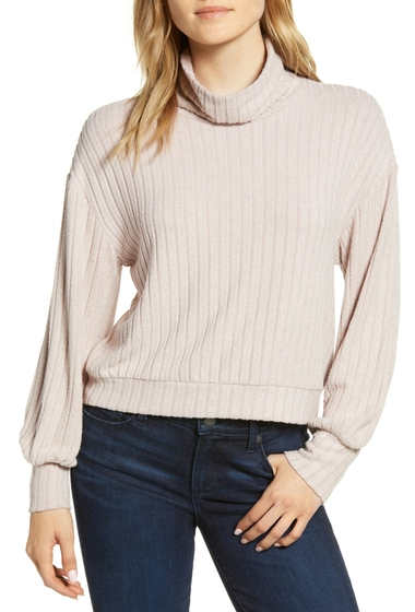 Imbracaminte Femei 1State Mock Neck Cozy Crop Top DAWN GLOW