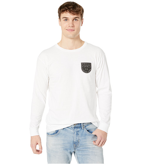 Imbracaminte Barbati O'Neill Mellow Long Sleeve Screen Tee White