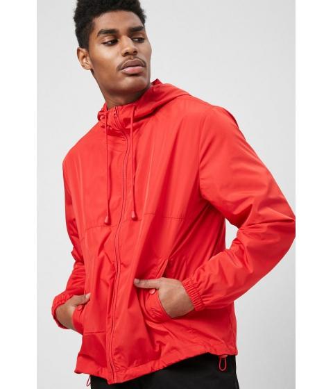 Imbracaminte Barbati Forever21 Hooded Zip-Front Windbreaker RED
