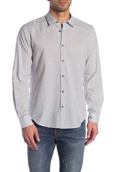 Imbracaminte Barbati John Varvatos Star USA Micro Star Trim Fit Shirt REFLECTION GREY