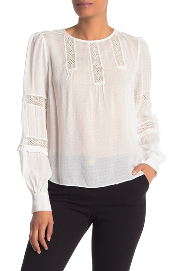Imbracaminte Femei Laundry by Shelli Segal Lace Trimmed Crew Neck Top CLOUD