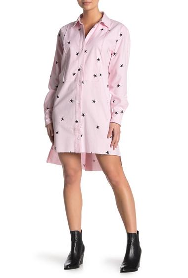Imbracaminte Femei CurrentElliott The Rosie Star Print Shirt Dress LIGHT PINK