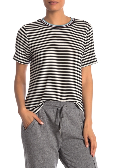 Imbracaminte Femei Splendid Taffy Striped T-Shirt BLACKNATURAL