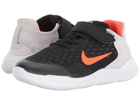Incaltaminte Baieti Nike Free RN 2018 (Little Kid) BlackTotal CrimsonVast GreyWhiteAnthracite