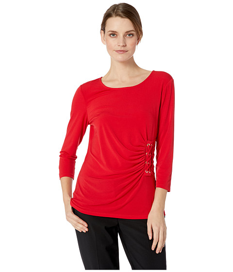 Imbracaminte Femei Calvin Klein 34 Sleeve Knit with Lacing Rouge