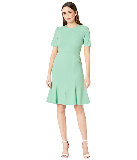 Imbracaminte Femei Donna Morgan Crepe Short Split Sleeve Fit and Flare Dress Mint