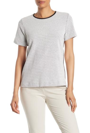 Imbracaminte Femei DKNY Crew Neck Short Sleeve Knit T-Shirt IVORYBLAC