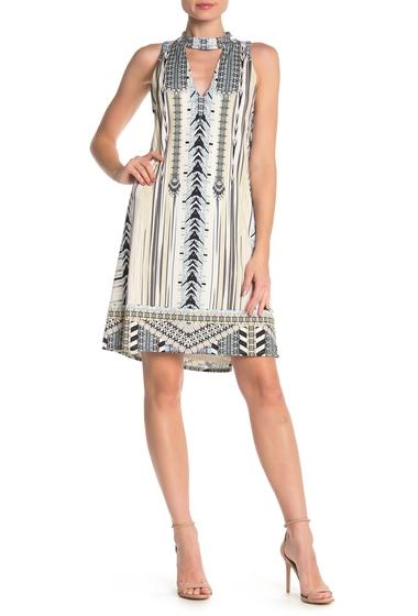 Imbracaminte Femei Hale Bob Patterned Mock Neck Shift Dress BEIGE