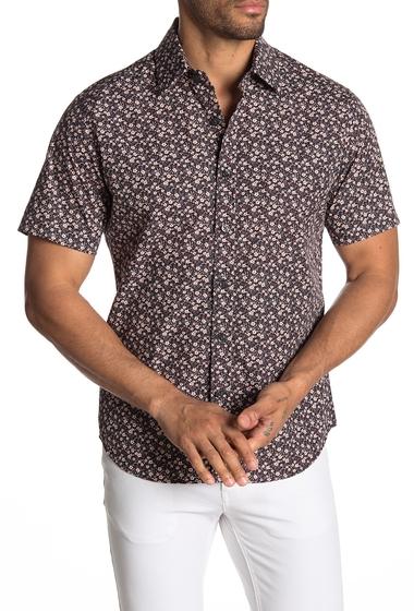 Imbracaminte Barbati Kennington Handsome Little Flowers Short Sleeve Shirt BROWN