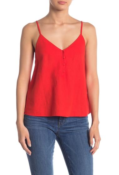 Imbracaminte Femei Abound Linen Blend Button Front Tank Top RED FIERY