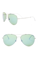 b8d3ade4d50 59mm Aviator Sunglasses - RUTHENIUM HZ GREEN MULTYL BL. Gucci