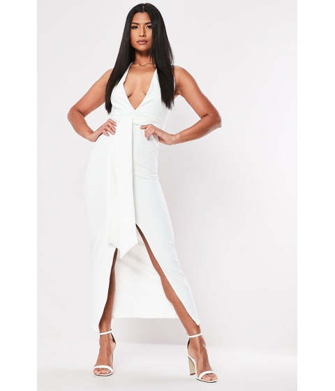Imbracaminte Femei Forever21 Missguided Plunging Halter Dress WHITE
