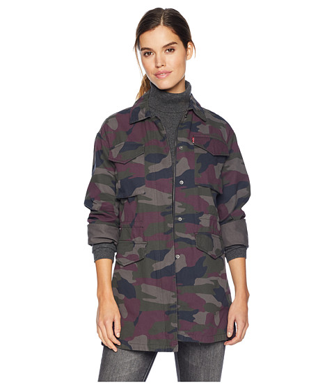 Imbracaminte Femei Levi's Four-Pocket Button Front Oversized Military Purple Camo