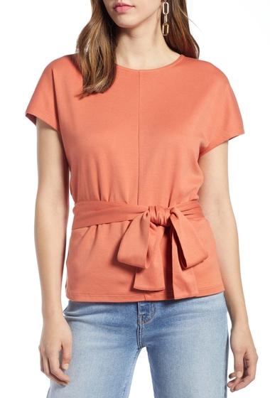 Imbracaminte Femei Halogen Tie Waist Knit Top Regular Petite CORAL APRICOT