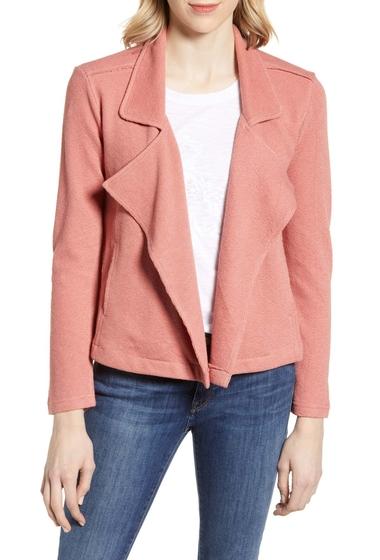 Imbracaminte Femei Caslon Drape Front Stripe Jacket Regular Petite Plus Size PINK CANYON