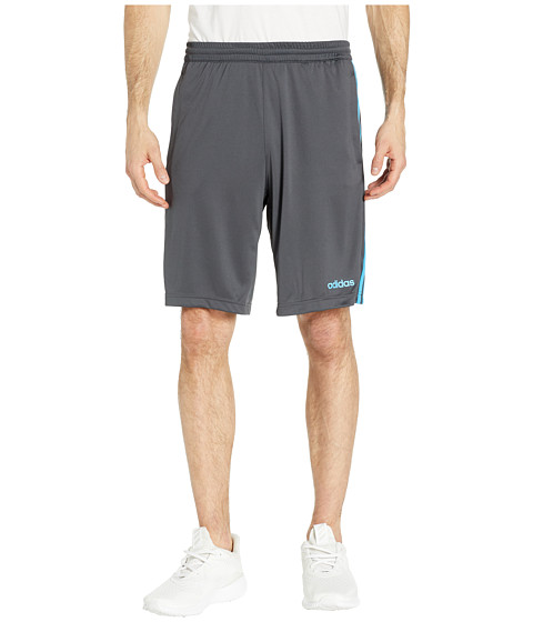Imbracaminte Barbati adidas D2M 3-Stripe Shorts Dark Grey HeatherSolid GreyShock Cyan