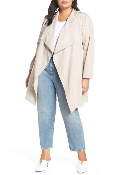 Imbracaminte Femei Halogen Drape Front Lightweight Jacket Plus Size GREY CHATEAU