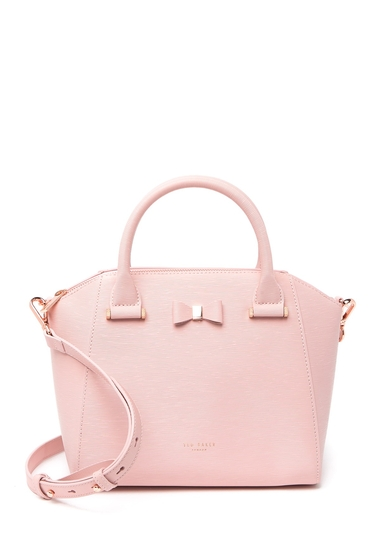 Genti Femei Ted Baker London Cala Textured Leather Satchel LT-PINK