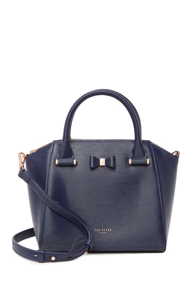Genti Femei Ted Baker London Cala Textured Leather Satchel DK-BLUE