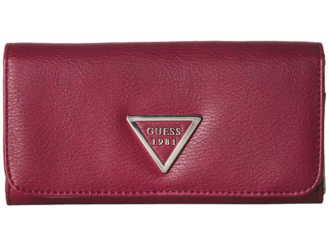 Genti Femei GUESS Lauri SLG Large Flap Organizer Red