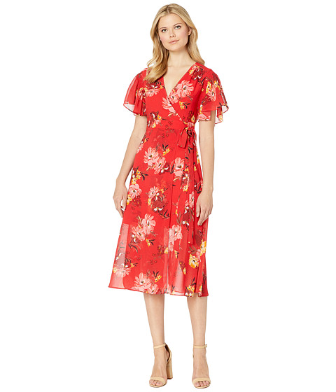 Imbracaminte Femei Vince Camuto Printed Chiffon Maxi Wrap Dress Red Multi