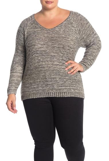 Imbracaminte Femei SUSINA Marled Knit Sweater Plus Size GREY EBONY MARL