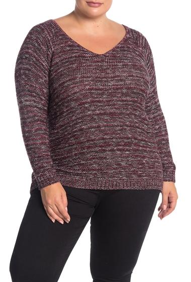 Imbracaminte Femei SUSINA Marled Knit Sweater Plus Size BURGUNDY BEET MARL